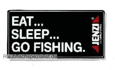 Aufkleber Eat-Sleep go fishing