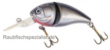 "Fladen Mini Fat  8,0cm jointed ""silver-black"""