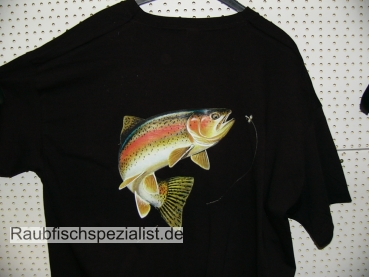 "T-Shirt ""Rainbow Trout"" schwarz"