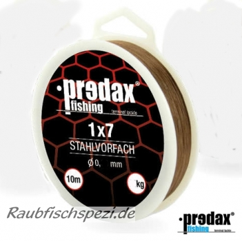 Predax Fishing Stahlvorfach 1x7  18 kg   -10m-