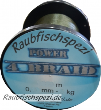 "Raubfischspezi  Power  Braid 0,22 mm - 15 kg  ""Grün""          /50m"