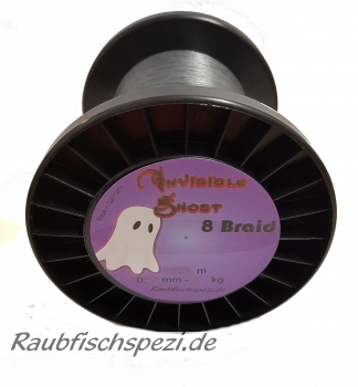 Raubfischspezi  8Braid Invisible Ghost 0,08 mm - 5 kg      /50m