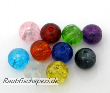 Texas / Carolina  Glasperlen 6 mm round Bead color  10 Stück