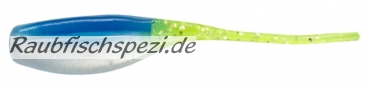 "Relax Stinger Shad 5 cm (2"") Blue / White - Chartreuse Tail"