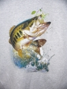"T-Shirt ""Spinnerbait Bass"" grau"